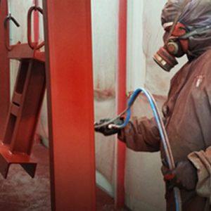 working spray painting in perth workshop